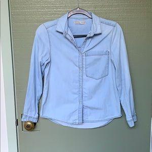ZARA- woman's xs or girls 11/12 denim long sleeve